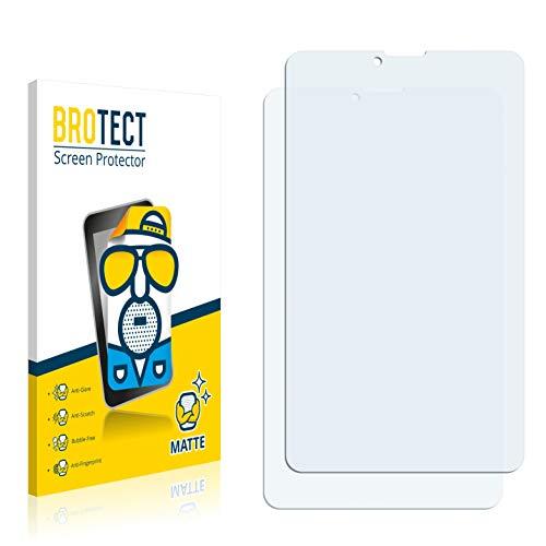 BROTECT 2X Entspiegelungs-Schutzfolie kompatibel mit Pearl Touchlet SX7.v2 Bildschirmschutz-Folie Matt, Anti-Reflex, Anti-Fingerprint