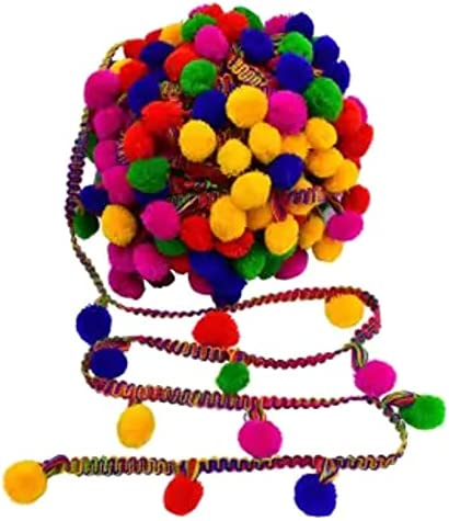Kalagiri Pompom Multicolor Selling rankings Cotton Fringe Dedication Trim S LACE for Tassels