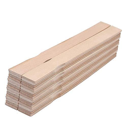 Holzspatel - 30 cm Rührhölzer zum Rühren von Farbe, Lack (25er-Pack) - Farbrührspatel- Bastelholz zum Basteln, Garten, Deko, Lesezeichen, Kunst, Schule, Hochzeits Fächer und Aktivitäten für Kinder