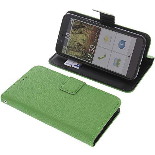 foto-kontor Tasche für Emporia Smart 3 Mini Book Style grün Schutz Hülle Buch