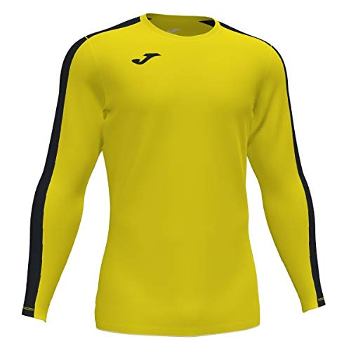 Joma Academy Camiseta Juego Manga Larga, Hombre, Amarillo-Negro, S