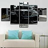CCRTAR Impresión De 5 Paneles Cuadro En Lienzo Póster Super coche negro M5 Impresiones sobre Lienzo 5 Piezas Lienzos Moderno Arte Sala Decoración Regalo