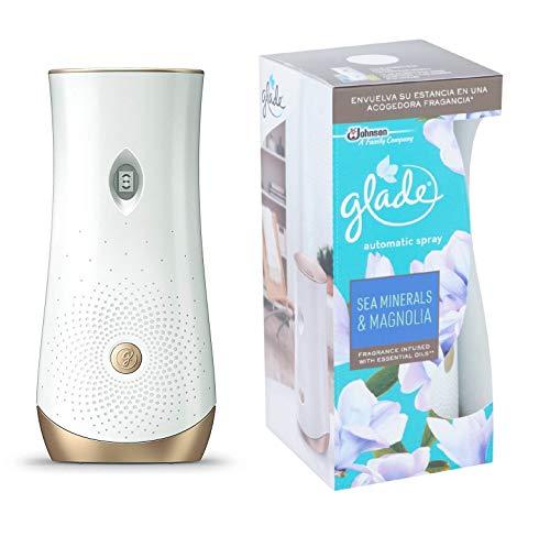 Glade - Ambientador Automático, Pack Difusor y Recambio, 60 días de Fragancia Sea Minerals & Magnolia, 1ud