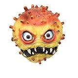 Geagodélia Masque d'Halloween 3D en latex effrayant les virus pour adultes, hommes et femmes, déguisement pour festival, fête, carnaval - Orange - Large