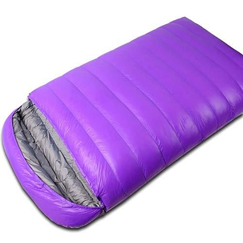 CGMZN Saco de Dormir una Pareja de Pelo Ultraligero Camping Doble Saco de Dormir Invierno otoño Sobres Pato Abajo Doble Saco de Dormir con