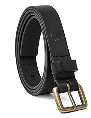 Timberland Women's Casual Leather Belt, Black (Classic), Small (28-32)