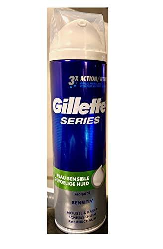 Gillette Series Sensitive Rasierschaum, 1er Pack (1 x 250 ml)