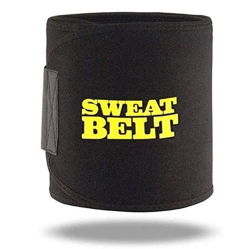 SUPERSTUD Sauna Slim Belt/ Sweat Belt For Fat Loss, Tummy Trimming, For Both Men And Women (Black)