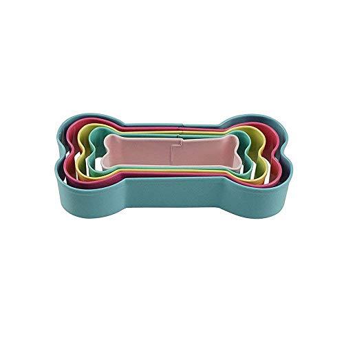 OS pour chien Emporte-pièce formes Ensemble en acier inoxydable en forme d'os Cookie Moules, 5Compte
