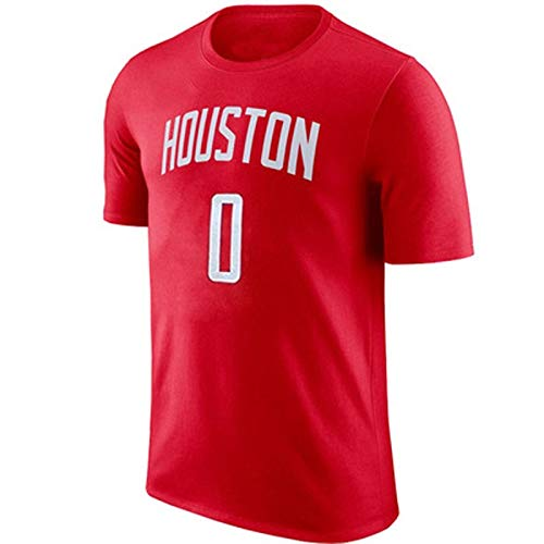 Zxwzzz NBA Rockets Manga Corta Floja Westbrook No.0Jersey Divierte La Camiseta Traje De Entrenamiento De Baloncesto Masculino (Color : C, Size : XX-Large)