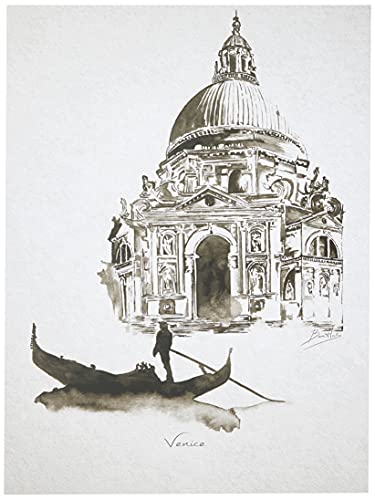 ArcoIris Home Cuadro Decorativo Ciudades Venecia 40x30cm CON LED