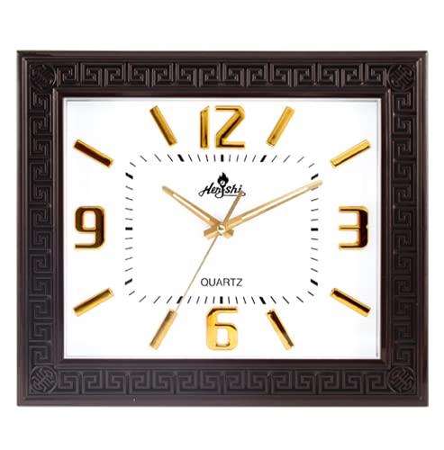 Reloj Clásico De 16 '' Patrón Hueco Creativo Oficina Retro Decoración China Reloj Silencioso Rectangular De Moda Oficina Dormitorio White
