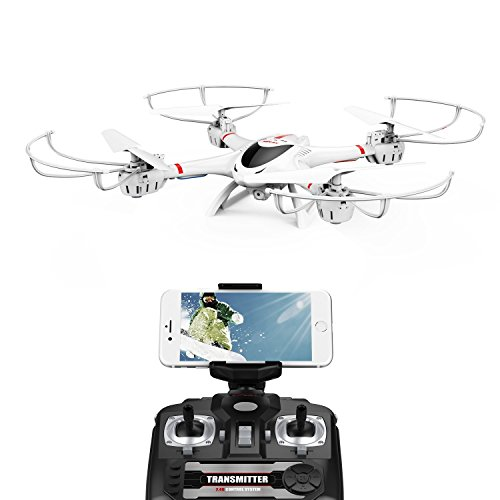 DBPOWER ドローン カメラ付き 空撮ドローン iPhone&Android 生中継可能 国内認証済み ヘッドレスモード フリップモード搭載 リアルタイム伝送 2.4GHz 4CH 6軸ジャイロ Wi-Fiカメラ FPVリアルタイム 初心者向き