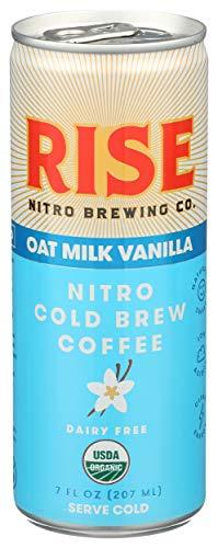 RISE Brewing Vanilla Oat Milk Latte, 7 Fl oz