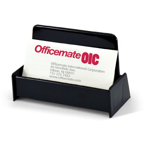 Officemate OIC Business Card Holder, Holds Up to 50 Cards, Black (97831)