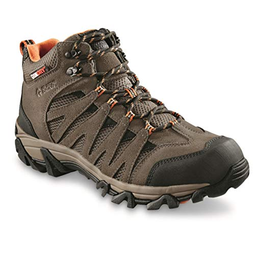 Guide Gear Men's Crosby Waterproof Mid Hiking Boots, Brown, 13D (Medium)