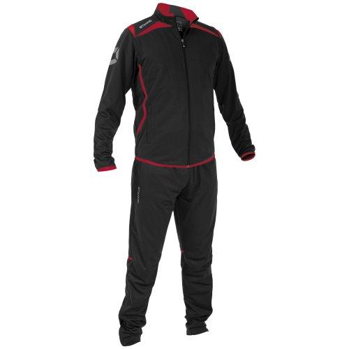 Stanno Herren Forza Polyester Anzug schwarz-rot-weiß XL