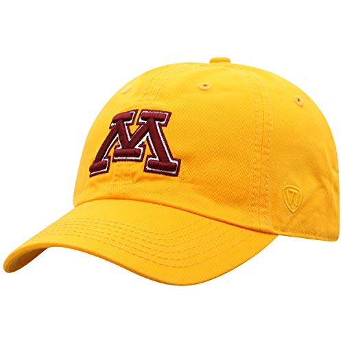 Top of the World Relaxed Fit verstellbare Mütze Secondary Team Color Icon, Damen Unisex-Erwachsene, Relaxed Fit Adjustable Hat Secondary Team Color Icon, Minnesota Golden Gophers Gold, Einheitsgröße