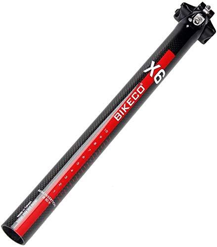 Tija de sillín para bicicleta, fibra de carbono, 350 mm, tija de...