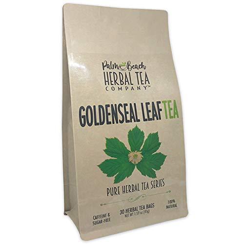 Goldenseal Leaf Tea - Pure Herbal Tea Series by Palm Beach Herbal Tea Company (30 Tea Bags) 100% Natural