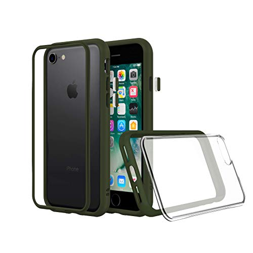 RhinoShield Modular Case Compatible with [iPhone SE2 / SE (2020) / 8/7] | MOD NX - Shock Absorbent Slim Design Protective Cover [3.5M / 11ft Drop Protection] - Camo Green