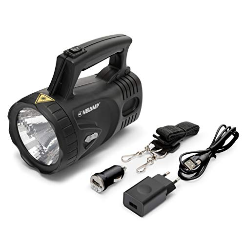 Velamp ICARO Linterna Antorcha LED 170lumen (3W), Lámpara recargable. Batería de litio....