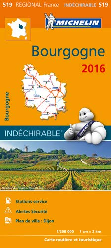 Carte Bourgogne 2016 Michelin