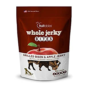 Fruitables Whole Jerky Bites Grilled Bison Dog Treats, 5 Oz