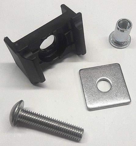 20x Auflagebock Befestigung Doppelstabzaun Zaun+Plättchen+Schraube 5,5+Niet M8 Normal Anthrazit 9 mm