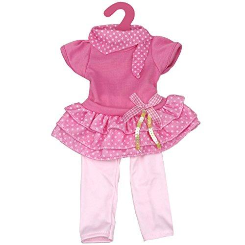 Schöne Puppen Kleidung für 18 Zoll amerikanische Mädchen Puppen Kleidung - Rosa+Rosa Rot