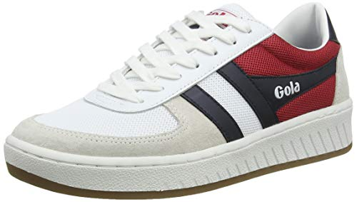 Gola Grandslam RWB, Zapatillas para Hombre, Blanco (White/Navy/Red Web), 43 EU