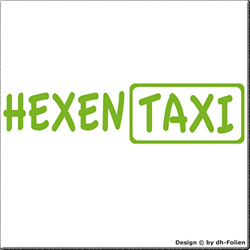 cartattoo4you AK-00398 | HEXEN Taxi | K-Serie | Autoaufkleber Aufkleber Car Sticker Heckscheibe Hexe Spruch Tuning | Farbe apfelgrün | in 23 Farben erhältlich,glänzend 20 x 5 cm Waschstrassenfest