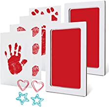 Baby Inkless Footprint Kit Handprint Pet Paw Print Kit Ink Pads 2 Packs Non-Toxic Safe and Clean-Touch for Family Keepsake Baby Shower Gift and Registry