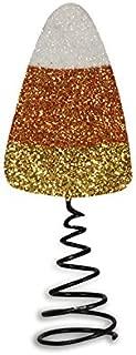 Bethany Lowe Halloween Candy Corn Miniature Tin Tree Topper