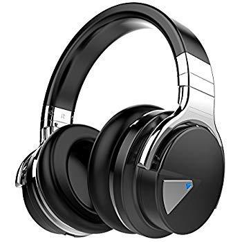 cowin Clicca sull'immagine per la visualizzazione estesa E7【Aggiornamento 2019】 Cuffie Bluetooth Wireless - Microfono Hi-Fi Deep Bass, Tempo di Riproduzione di 30 Ore, Leggero Compatibile (Nero)