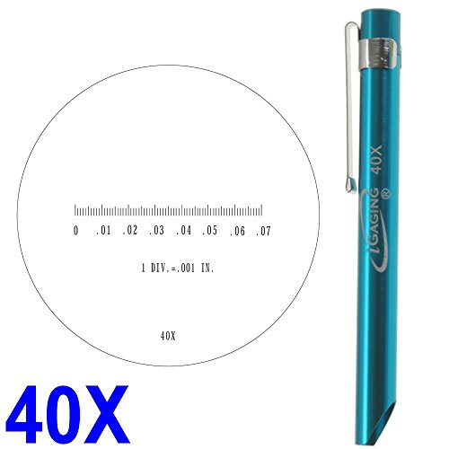 iGaging Pocket Scope Magnifier Scale 40X Magnification Microscope Scale Range 0-0.07' 0.082' Field of View