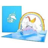EKKONG Geburtstagskarte Besondere Pop up Glückwunschkarte 3d Grußkarte für Geburt Hochzeit...