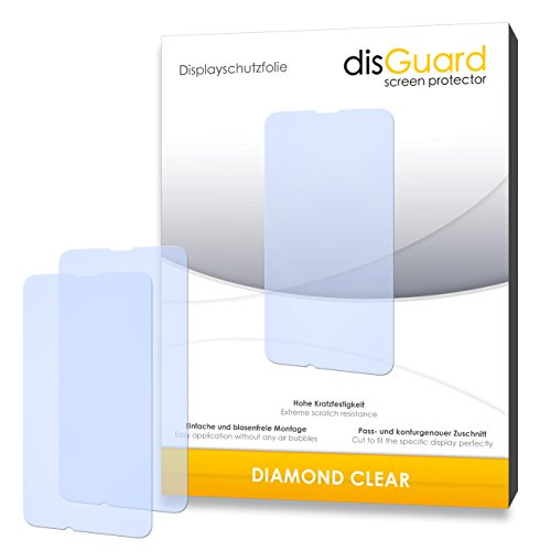 disGuard 2 x Bildschirmschutzfolie Nokia Lumia 530 Schutzfolie Folie DiamondClear unsichtbar