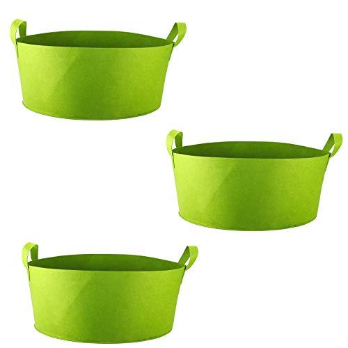 Hapeisy 3 bolsas de cultivo de plantas, 15 galones de tela no tejida para macetas con asas, contenedores de cultivo de plantas para interior y exterior para patata, verduras y frutas, color verde