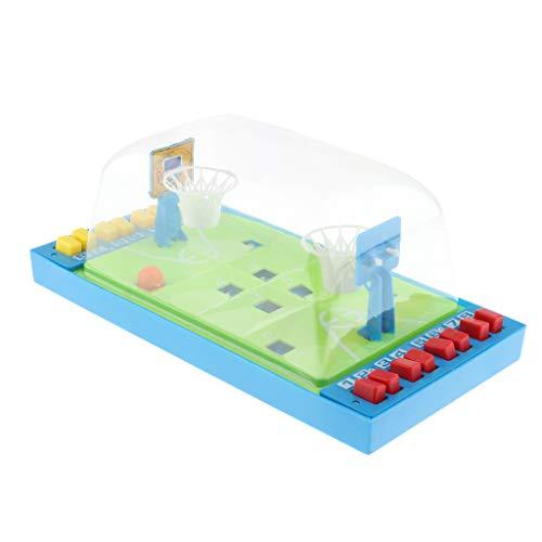 perfk Elektronisches Basketball Tischspiel, Miniatur Tischbasketball Elektrisches Arcade Game Basketballspiel