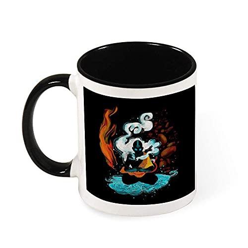 NA Avatar The Last Airbender ANG Fire State Taza de café de cerámica, Regalo para Mujeres, niñas, Esposa, mamá, Abuela, 11 oz