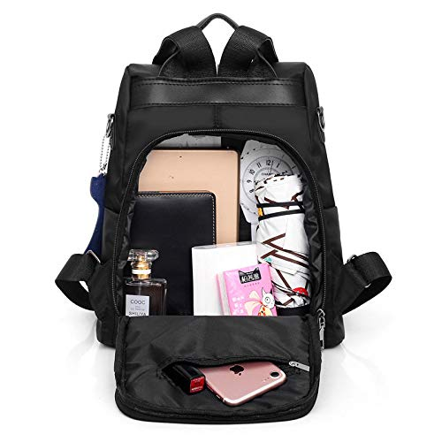 GDMXYD Resistente al Agua Mochila, Portátil Mochila Trekking, Laptop Daypack Bolso de la computadora de la Prenda Impermeable del Bolso antirrobo Masculino Adolescente, Barba