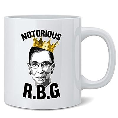 Notorious R.B.G. Ruth Bader Ginsburg Ceramic Coffee Mug Tea Cup Fun Novelty Gift 12 oz