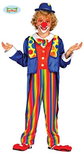 bunter Clown - Kostüm für Kinder Gr. 98 - 146, Größe:98/104