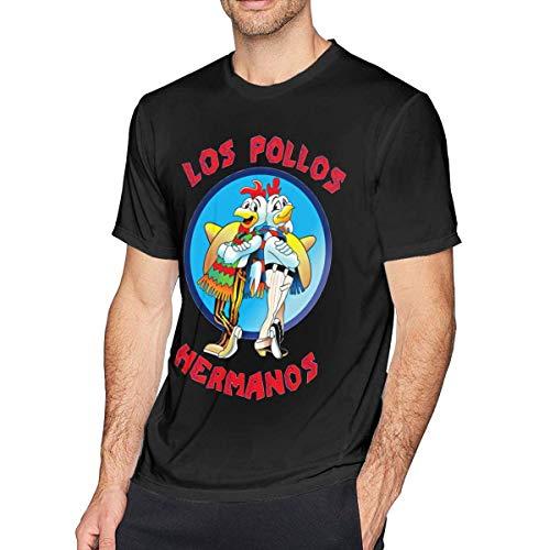 Cat-Tshirt Los Pollos Hermanos Custom Camiseta Casual para Hombre