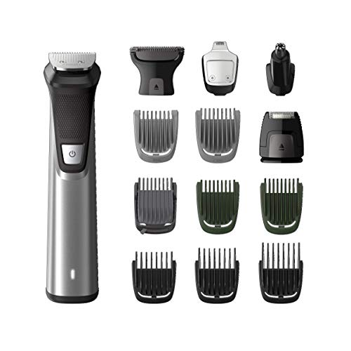 Philips Multigroom Series 7000 Set de Arreglo Personal, 14 e n 1, Negro/Plata