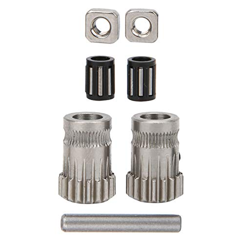 Yctze 3D Printer Pulley, Wire Feeding Wheel Kit Parts, With nuts, bearings, For i3 MK2/MK3 Feed Wire Feed Wheel