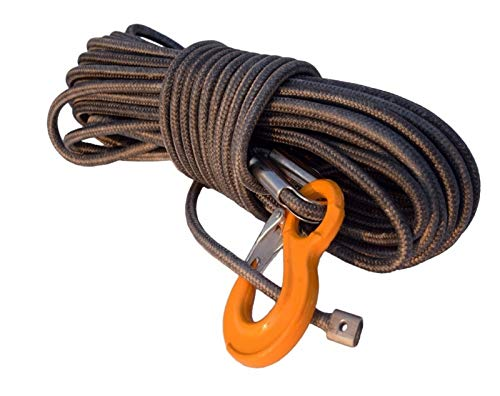 lxxiulirzeu Accesorios cabestrante 12mm * 30m Gris Chaqueta sintética Torno de Cable, ATV...