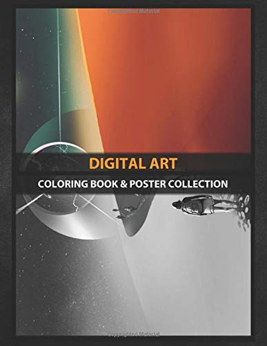 Coloring Book & Poster Collection: Digital Art People Walking Through A Desert To The Mysterious Build Fantasy