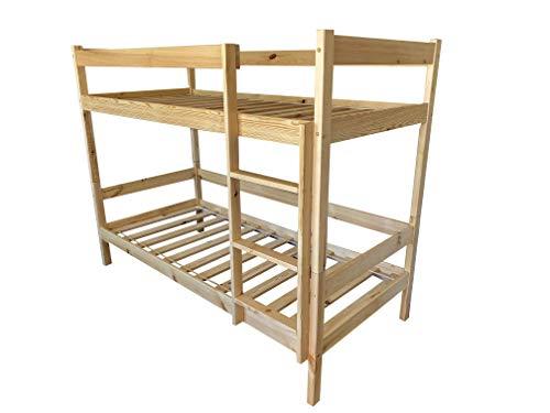 Doppelstockbett Holzbett 90x200 Kinderbett Jungendbett Etagenbett Stockbett Doppelbett für Erwachsene